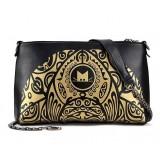 Wholesale - Charming Retro Pringting Envelope Pattern PU Bag Shoulder Bag Messenger Bag DL526