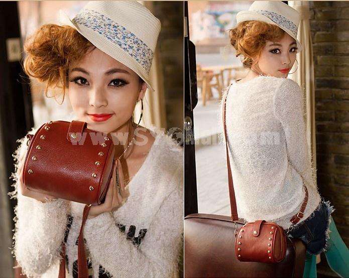Charming Stylish PU Rivet Pattern Casual Bag Shoulder Bag Messenger Bag DL196