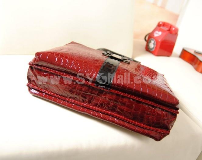 Charming Stylish OL PU CROCO Pattern Bag Shoulder Bag DL601