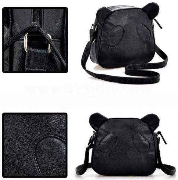 Charming Stylish Cute Panda Head Pattern PU Bag Backpack DL133