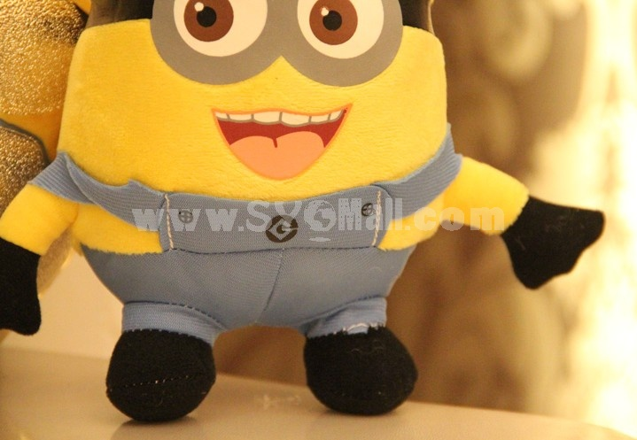 "18*12CM/7*5"" DESPICABLE ME The Minion Plush Toy Stewart the Minion NWT Free Shipping"