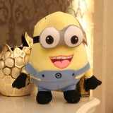 Wholesale - DESPICABLE ME The Minions 3D Eyes Plush Toy Stuffed Animal - Two Eyes Laugh 30cm/12Inch Tall