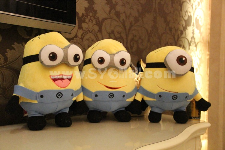 "30*20CM/12*8"" 3D Eyes DESPICABLEME The Minion Plush Toy Jorge the Minion NWT Free Shipping"