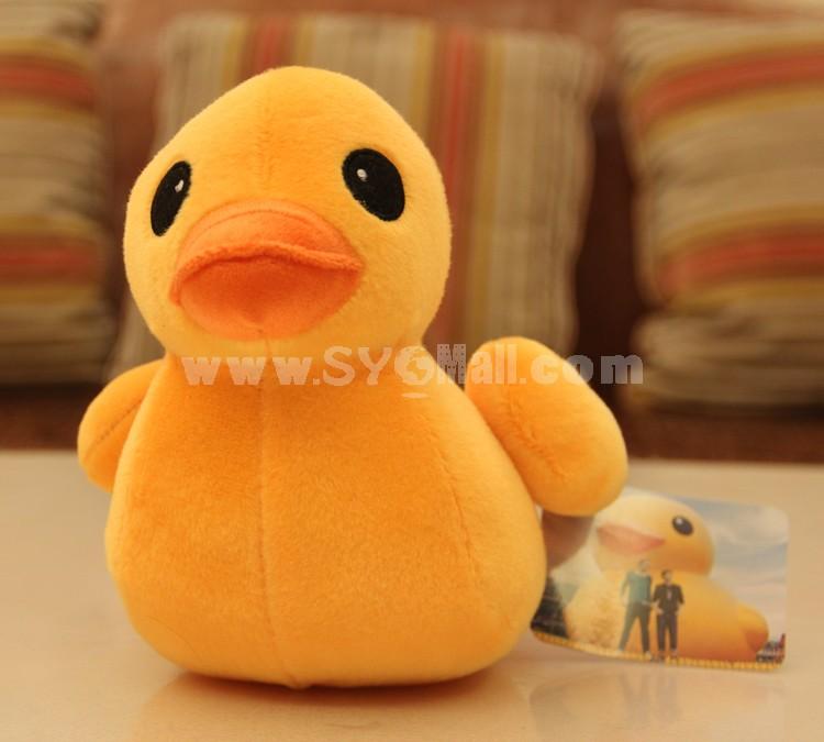 "12*8/5*3"" HK Faddish Yellow Duck Culture Propaganda Plush Toy Free Shipping"