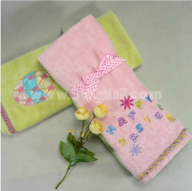 2PCS 40*70cm Embroidered Couple Towels A-M020-1