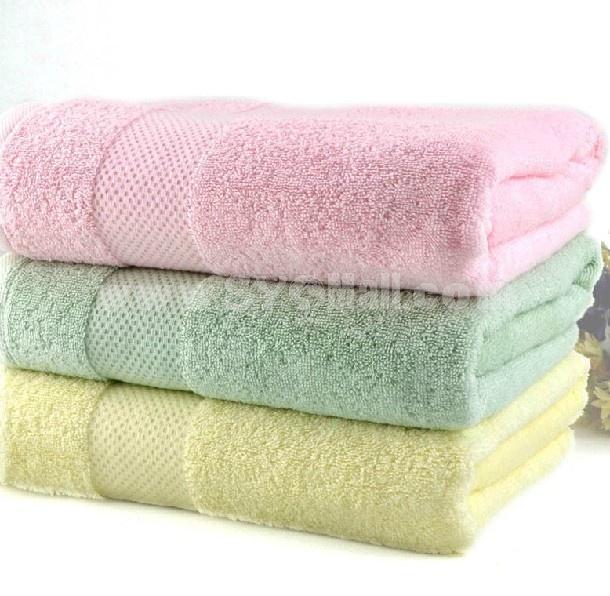 78*136cm Multi-color 100% Cotton Thickened Soft Washcloth Bath Towel