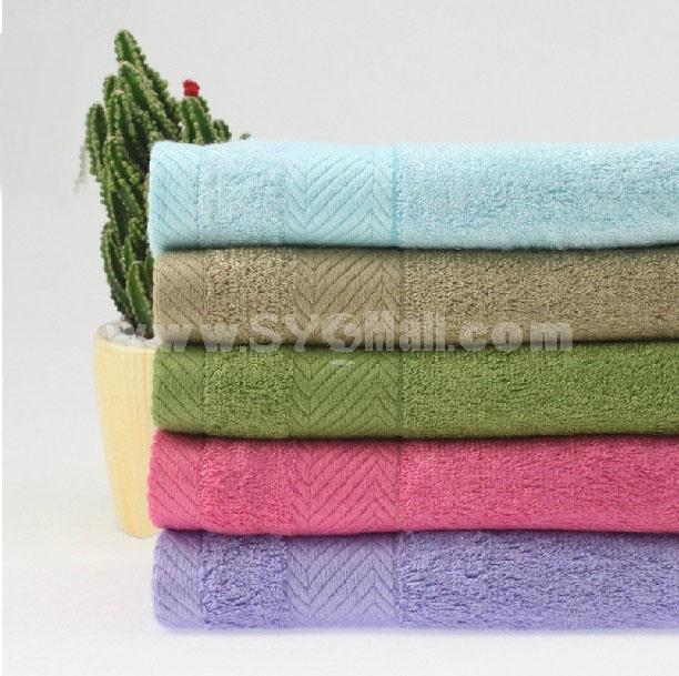 2PCS 34*34cm Bamboo Fiber Soft Hand Towel M003