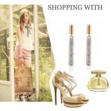 Wholesale - Exquisite Rhinestone Tassels Long Pattern 18K Gold Plating Drop Earring