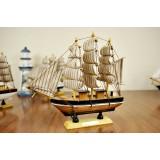 Wholesale - Decorative Mediterranean Style Wooden Sailing Model for Desk