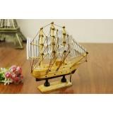 Wholesale - Decorative Mediterranean Style Wooden Sailing for Desk