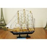 Wholesale - Decorative Mediterranean Style Large Size Wooden Sailing for Desk