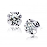 Wholesale - Exquisite High Quality Lovely Flora Zircon Pattern Ear Stud
