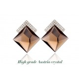 Wholesale - Exquisite Luxurious OL Pattern Crystal Ear Stud