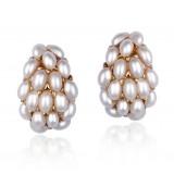 Wholesale - Exquisite Retro Joker Shell Pearl18K Gold Plating Drop Earring