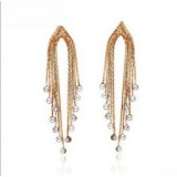 Wholesale - Exquisite Classic Retro Tassels with Rhinestone 18K Gold Plating Drop Earring