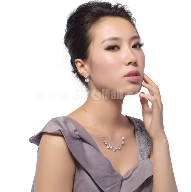 Exquisite Elwgant Shiny Rhinestone Tassels 18K Gold Plating Drop Earring