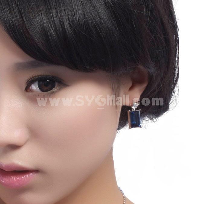 Exquisite Swarovski Element Crystal Pattern 18K Gold Plating Drop Earring
