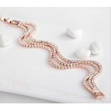Wholesale - Stylish Exquisite Elegant Joker Rhinestone Gold Plating Bracelets