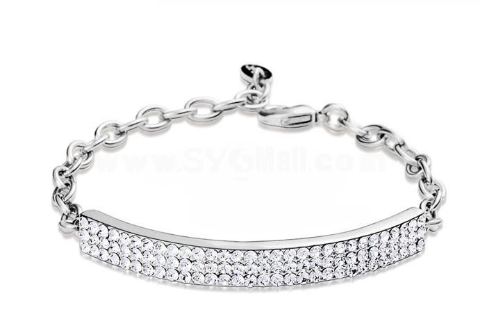 Stylish Circular Arc Pattern Exquisite 18K Gold Plating Bracelets