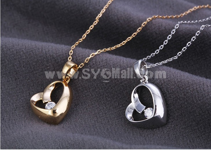 Women's Exquisite Retro Heart Pattern 18K Gold Plating Choker
