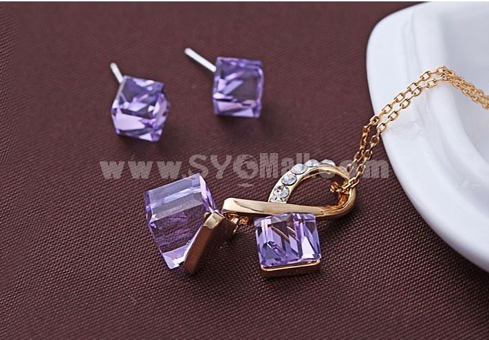 Women's Swarovski Element OL Pattern Exquisite Crystal Choker