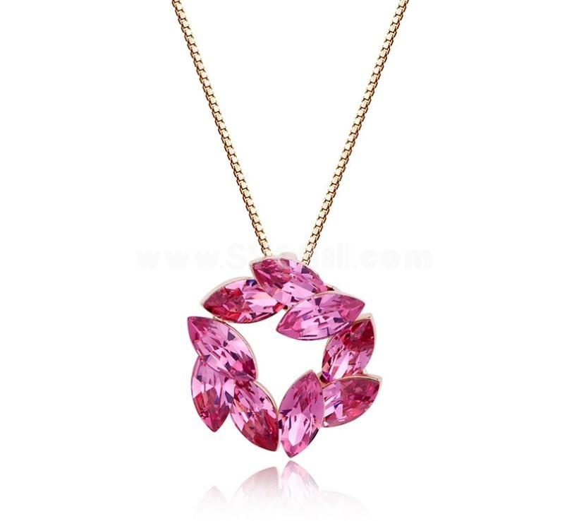 Women's Swarovski Element Flora Pattern Crystal Exquisite 18K Gold Plating Choker
