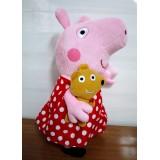 "Wholesale - Peppa Pig Plush Toy Polka Skirt Peppa 33cm/13"" Large Size"