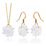 Wholesale - Romantic Zircon Flora Pattern Jewelry Set(One Necklace & A Pair of Earrings)