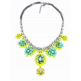 Wholesale - Exaggerate Luxurious Shiny Color Chunky Alloy with Resin/Rhinestone Women Necklace Choker
