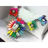 Wholesale - Exaggerate Luxurious Shiny Candy Color Alloy with Resin/Rhinestone Women Necklace Choker