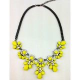 Wholesale - Exaggerate Luxurious Shiny Soild Color Chunky Alloy with Resin/Rhinestone Women Necklace Choker