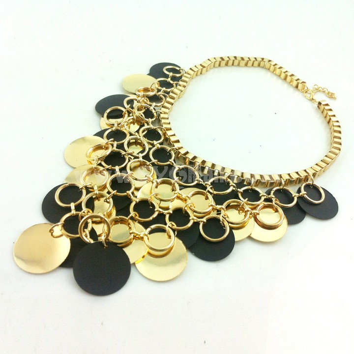 Exaggerate Luxurious Shiny Color Punk Pattern Alloy with Resin/Rhinestone Women Necklace Choker