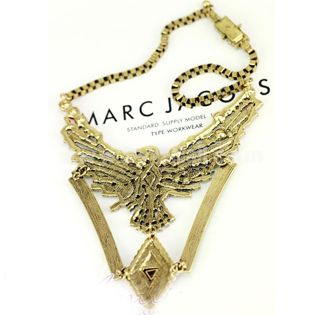 Exaggerate Luxurious Shiny Color Chunky Eagle Alloy with Resin/Rhinestone Women Necklace Choker