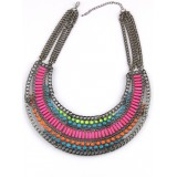 Wholesale - Exaggerate Luxurious Elegant Shiny Color Chunky Alloy with Resin/Rhinestone Women Necklace Choker Bib Necklace