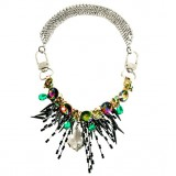 Wholesale - Unique Exaggerate Luxurious Shiny Color Chunky Alloy with Resin/Rhinestone Women Necklace Choker