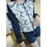 Wholesale - W328 Vintage Style Lace Embroidery Zippered Lace Coat