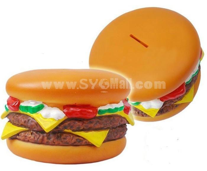 Piggy Bank Money Box Creative Hanburger Shaped