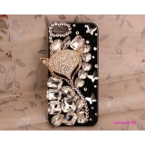 Wholesale - Fox Face Pattern Rhinestone Phone Case Back Cover for iPhone4/4S iPhone5