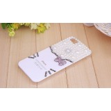Wholesale - Classical Cat Face Pattern Rhinestone Phone Case Back Cover for iPhone4/4S F0028