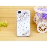 Wholesale - Loving Heart Gemstone Pattern Rhinestone Phone Case Back Cover for iPhone4/4S iPhone5