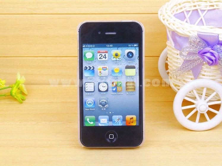 Loving Heart Gemstone Pattern Rhinestone Phone Case Back Cover for iPhone4/4S iPhone5
