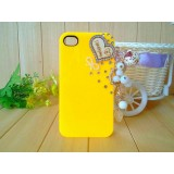 Wholesale - Loving Heart Pattern Rhinestone Phone Case Back Cover for iPhone4/4S