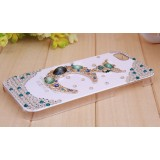 Wholesale - Crescent Moon Pattern Rhinestone Phone Case Back Cover for iPhone4/4S F003
