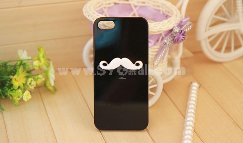 Cute Beard/Moustache Pattern Rhinestone Phone Case Back Cover for iPhone4/4S iPhone5 F0016
