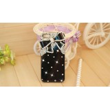 Wholesale - Bling Bling Big Bowknot Pattern Rhinestone Phone Case Back Cover for iPhone5 F0025