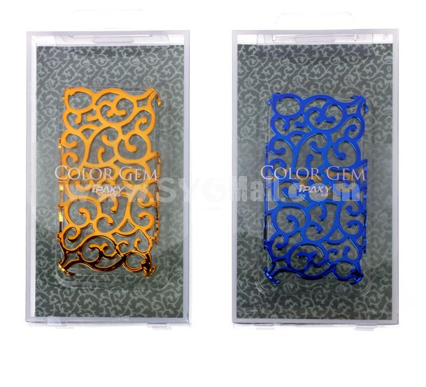Flora Hollow Carved Pattern Hard Case for iPhone4/ss