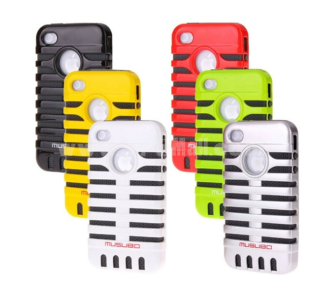 Microphone Style Plastic Case for iPhone4/4s
