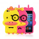 Wholesale - Lovely Duck Pattern Silicone Case for iPhone5