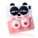 Wholesale - Lovely Cartoon 3D Eye Figure Pattern Plastic Case for iPhone4/4s