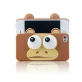 Wholesale - Lovely Cartoon 3D Eye Monkey Pattern Plastic Case for iPhone4/4s